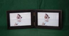 wooden folding photo frame