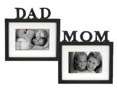 wooden dad photo frame