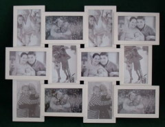 wooden 12 opening collage photo frame