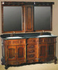 Sell Solid Oak Bathroom Cabinets with Ceramic Basin and Marble Vanity Top