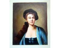 Nobel lady oil painting