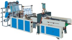 Automatic high speed vest-bag making machine