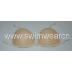 Bra cup with straps