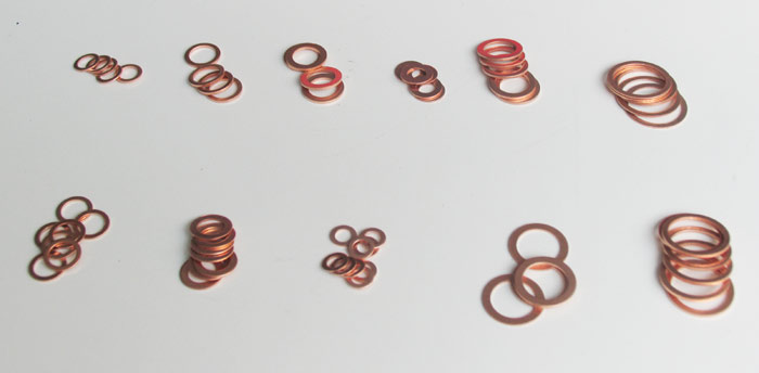 Solid copper washer
