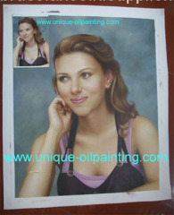 hand made portrait oil painting