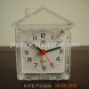 plastic glass clock