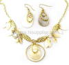Fashion Goldplated Alloy With Shell Jewelry Sets