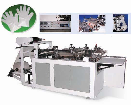 plastic gloving making machine