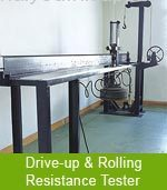 Drive-up & rolling resistance tester