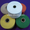 regenerated cotton/polyester yarn for weaving