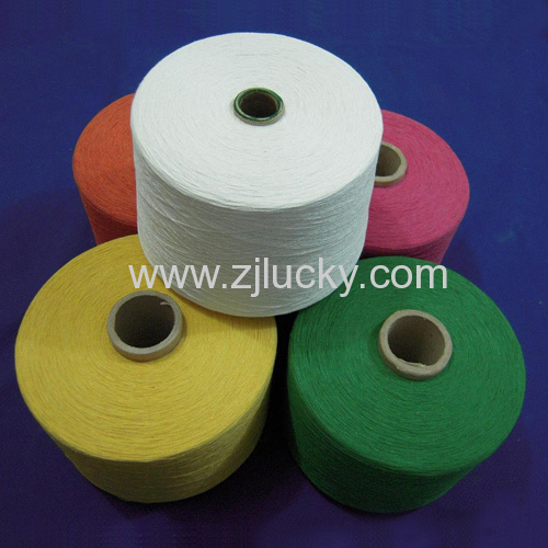 DIYED COTTON/POLYESTER YARN