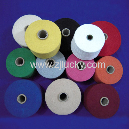 Regenerated dyed Cotton /poly Yarn