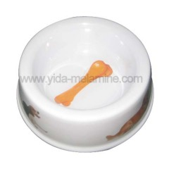 melamine dog bowl