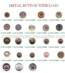 METAL BUTTON WITH LOGO