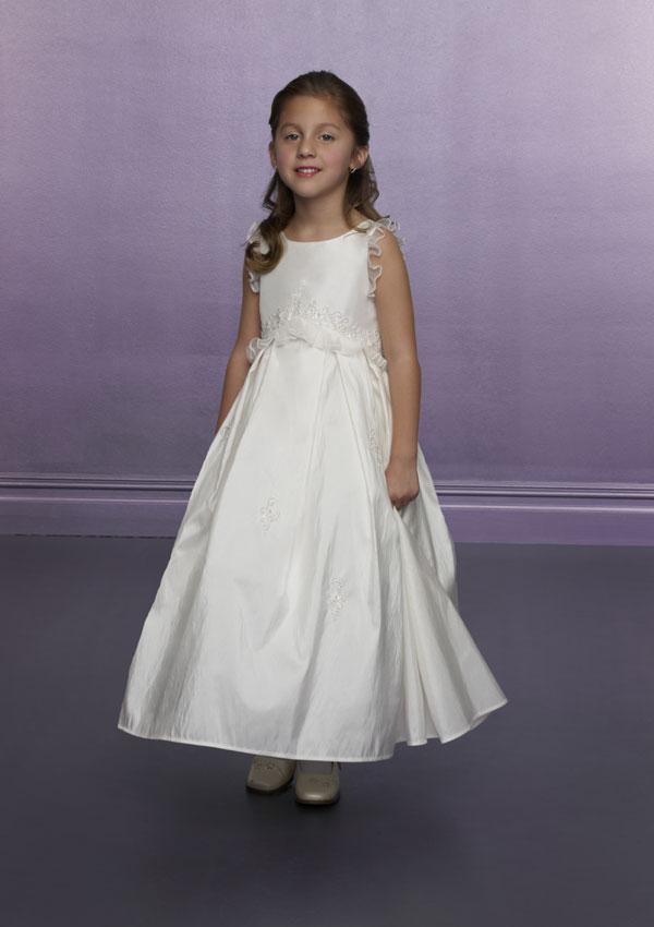 Taffeta Flower Girls-Dress