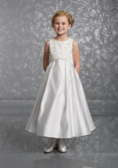 Satin Flower Girls Dress