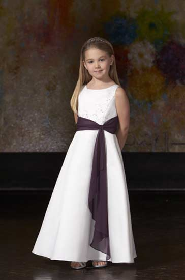 Satin Flower-Girl-Dress