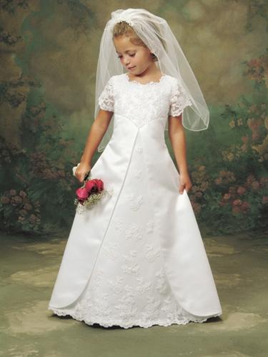 Lace-Flower-Girl Dress