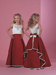 Satin Flower-Girl Dress