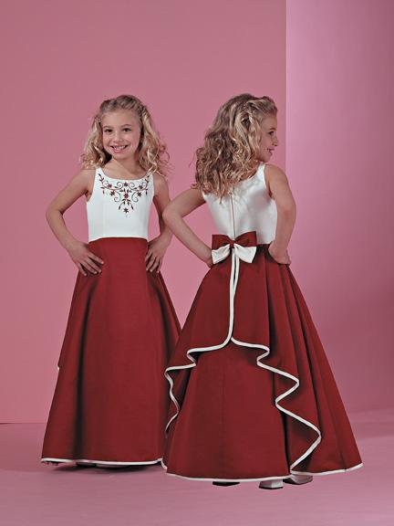 Satin Flower-Girl Dress
