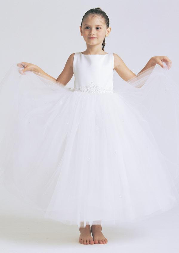 Organza Flower-Girl Dress