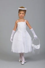 Satin Flower Girl Gowns