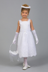 Satin-Flower Girl Gown