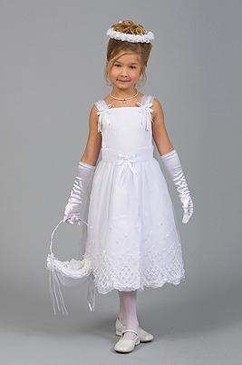 Satin-Flower Girl Gown