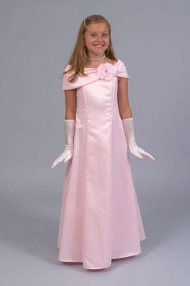 Satin Flower-Girl Gowns