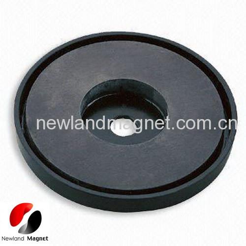 Ferrite cup magnet