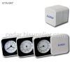 Travel Alarm Clock with Thermometer and Hygrometer