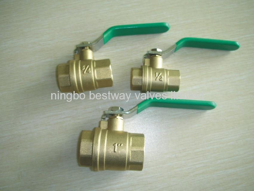 NPT brass ball valve