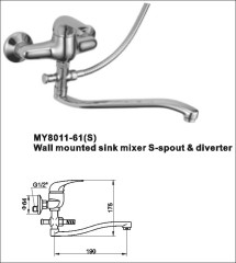 kitchen wall mounted faucet