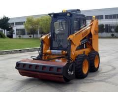loader with Vibratory Roller