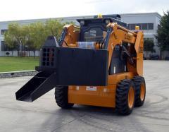 Skid steer loader with Concrete Spreader
