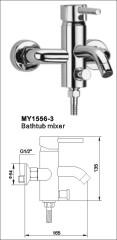 wall mounted bathtub mixer