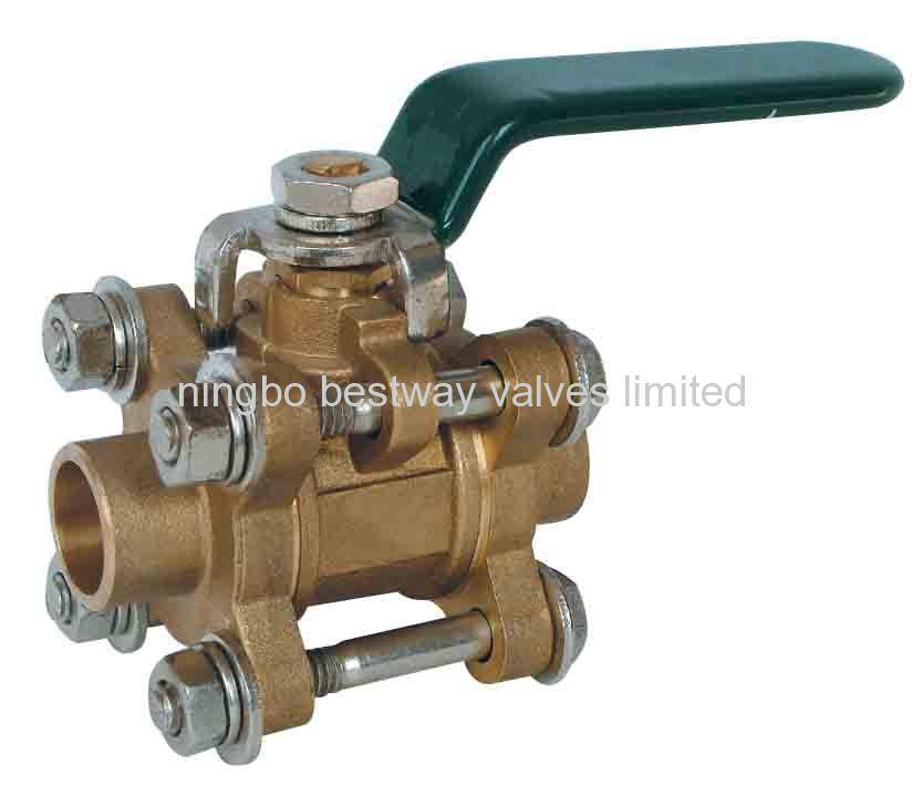 brass 3 piece ball valve