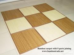 Bamboo Carpet with 9 Parts Joining