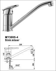 brass kitchen mixer tap