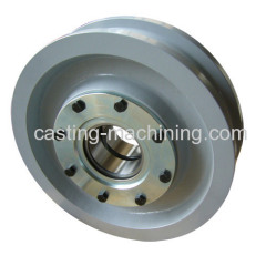 custom machined small metal pulley wheels