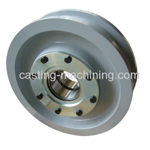 sand casting carbon steel idler pulley