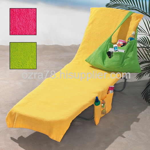 Lounge chair covers towels from china manufacturer ozra for Beach towel chaise lounge cover