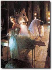 ballet dancer oil painting