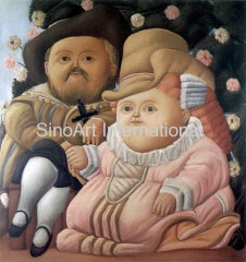 Botero Oil Painting