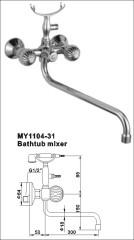 brass bathtub mixers