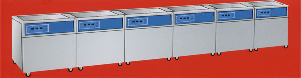 six-tank ultrasonic cleaner
