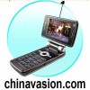 Quad Band Flip and Swivel TV Mobile  Phone