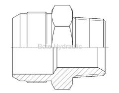 JIS Metric 60 Cone Seal & BSPT Straight Adapter