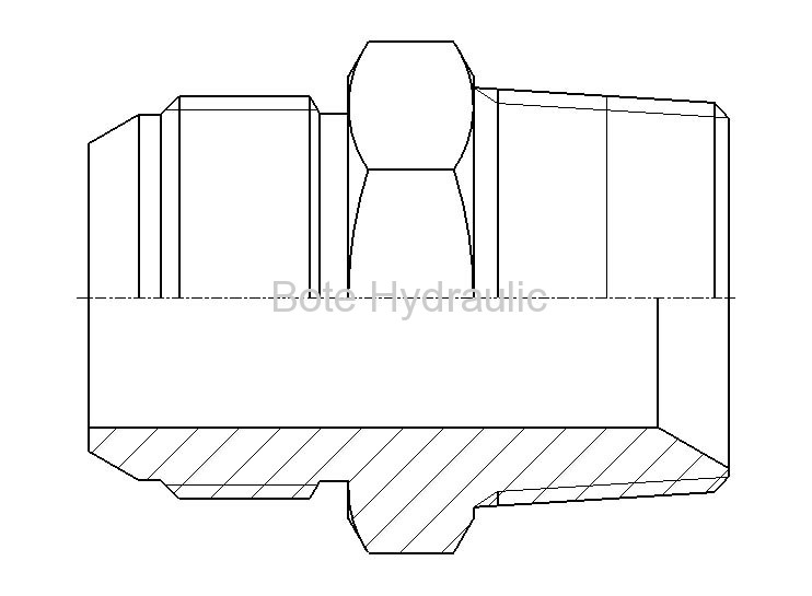 JIS BSPP 60 Cone Seal & BSPT Seal Straight Adapter