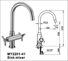 brass sink taps